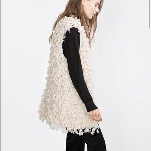 Zara Ivory Fancy Waistcoat